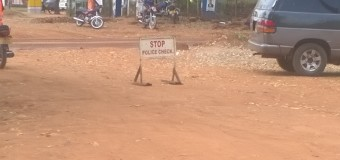 Anti- Riot Police deployed at Gulu Main Hospital Gate ahead of Besigye's Visit