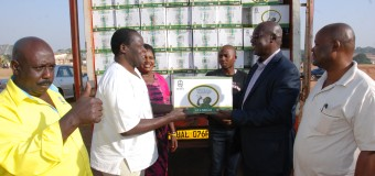 UPDF Donates 1,000 Cartoons of its Uzima Water for Museveni Rally