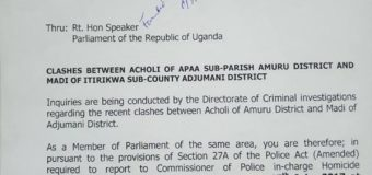 Police Now Summons MP Akol Over Apaa