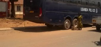 Police Abandons Bus on Busy Gulu Street